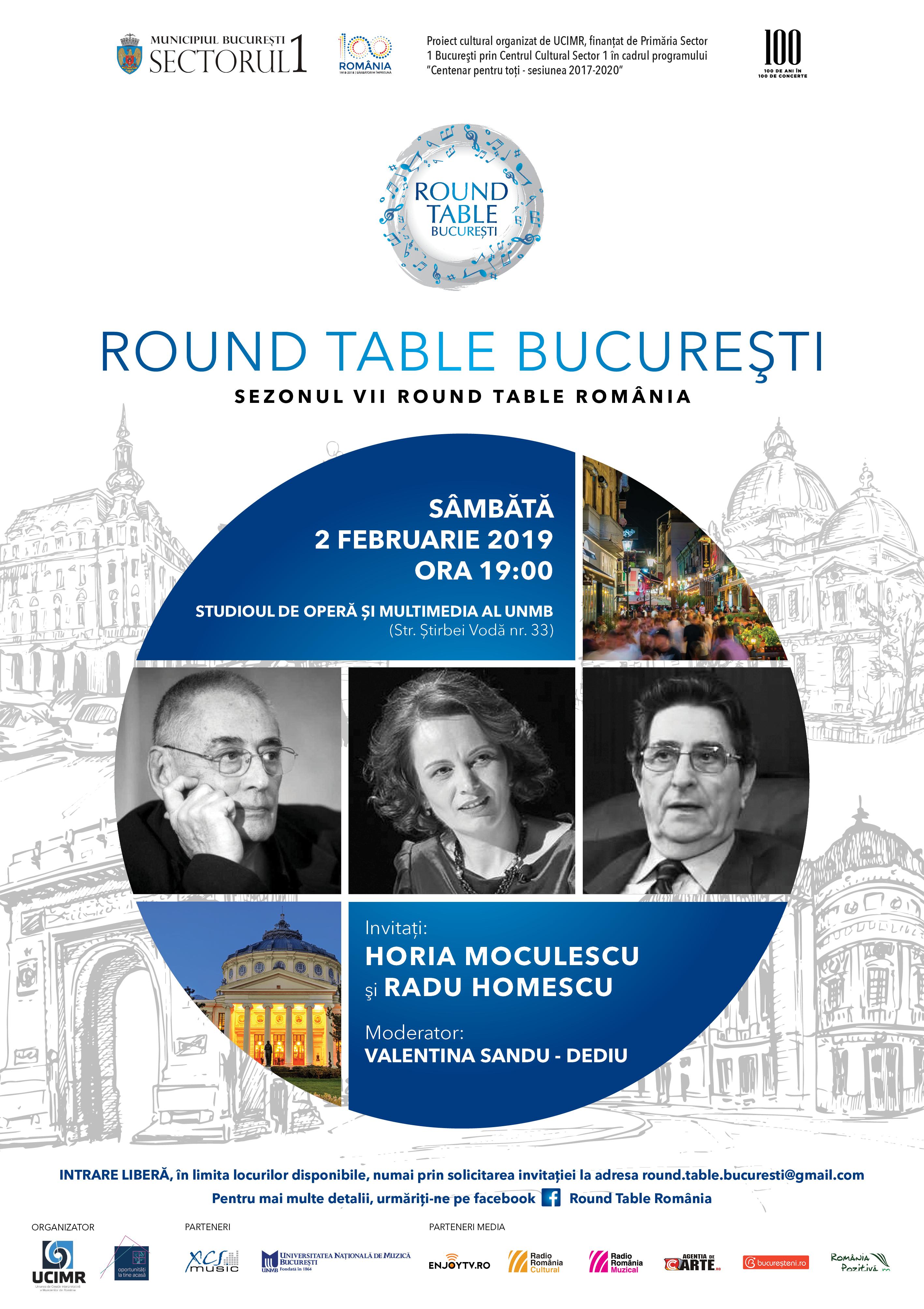 Round Table Horia Moculecu si Radu Homescu