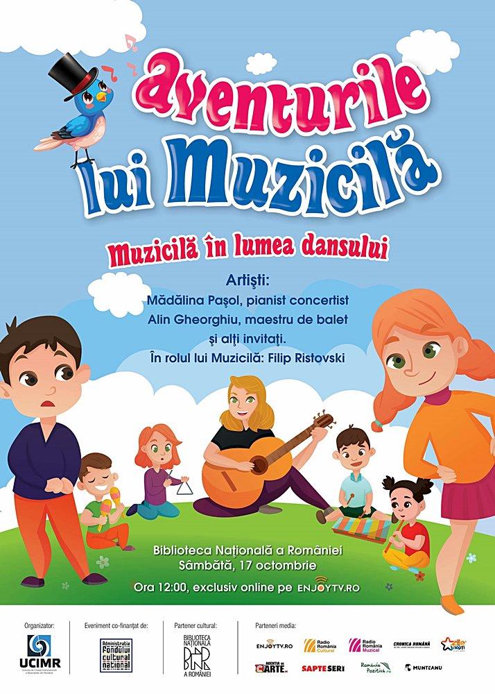 3 poster Aventurile lui Muzicila in lumea dansului